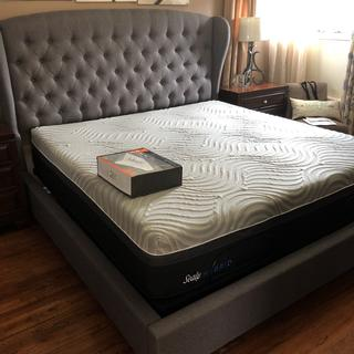 What an upgrade. This bed made sleeping great again. With the adjustable frame made it even better.