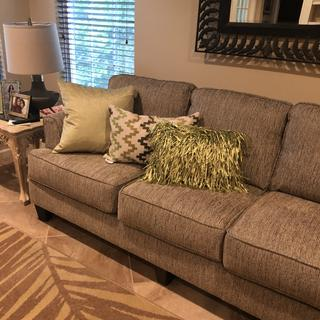 Love couch and love seat. Not just beautiful great quality.. thank you Raymour and Flanagan.