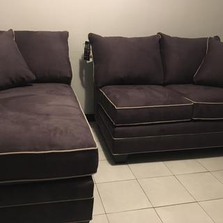 This 2-sectional is firm and comfortable; and adds such beauty to any small livingroom space.