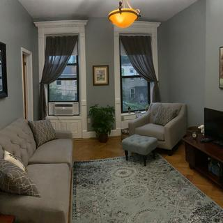 Both the couch and the chair in my Brooklyn Apartment. It fits perfectly!