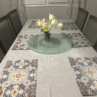 Love it, got table from Raymour and Flanagan outlet, and ordered lazy Susan online love both!
