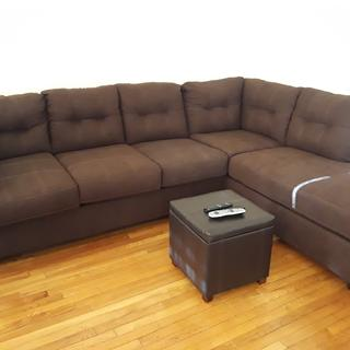 Beautiful 2 piece sectional. I love it and everyone that visit love it as well. The price is great.