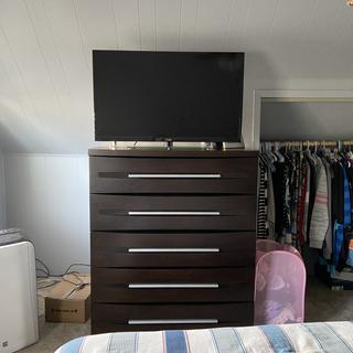 New dresser in the bedroom.