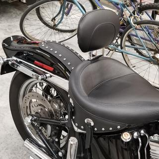 DAVID M. photo of Mustang Wide Touring Studded Solo Seat with Driver Backrest