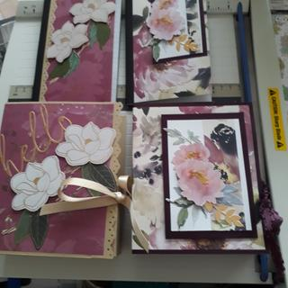 All the flowers and leaves except for the leaves on the left hand notebook are from this pack.