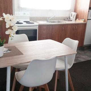 We replaced chairs with Living & Co Dining Chair Padded Seat with Wooden Legs White