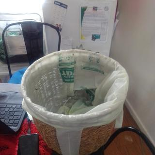 Can be a potato holder a rubbish bin you name it the possibilities are endless.