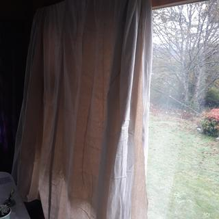 Makes a great temporary curtain!