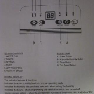 Page from the manual, showing the controls