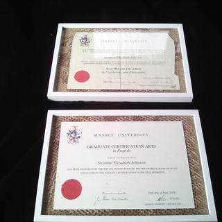 Frames Used for Certificates.
