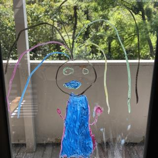 My daughter loves drawing on the windows!