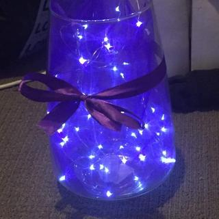 Large Vase with sash &  twinkle lights