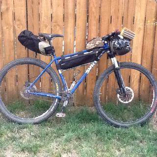 Half Pack on the Surly allows for two water bottle cages.