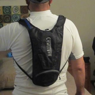 Foam pads barely visible when the pack is worn. Very comfortable too.