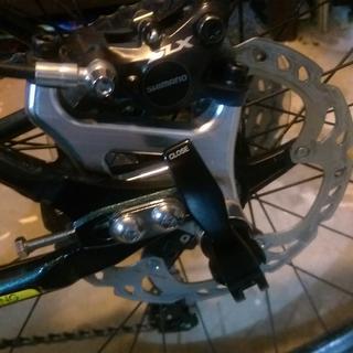 Rear brake mount and thru axle.