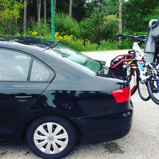 Security Strap use to lock bikes and rack to the trunk.
