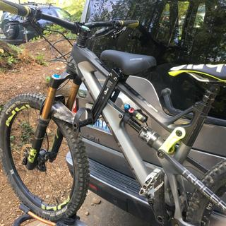 Solid on the road to the trails. No damage to the carbon.