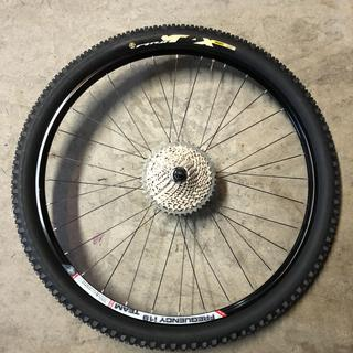 29 x 2.35 (55-622) tire mounted to 19mm rims and set up tubeless.