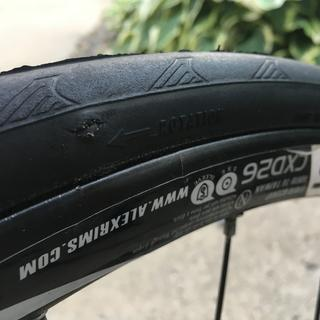3 miles on paved trail, I could not identify any debris that would have torn the sidewall.