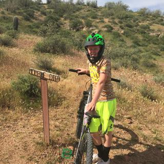 Rip the Double Dip at McDowell Mountain with my super light, cool and protective Bell Super 2R.