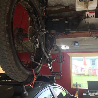 $20. Fat bike roof rack system from Jenson  and Home Depot.