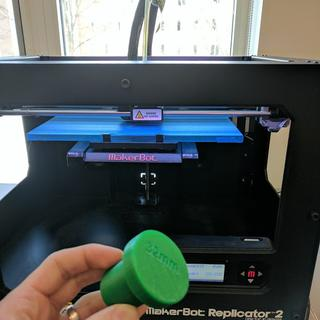 3D printed seal press I made. If you don't have access to a printer, BUY ONE! You will need it!