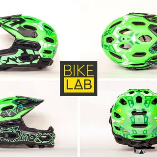 my helmet, customized by #BikeLab, in Tbilisi, Georgia & #CRAFTIVITY @Fabrika. now its even cooler!
