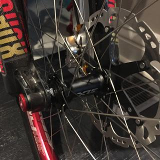 Laced up to a Spank 395+ rim