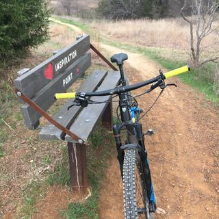 Knob Hills Trail near Grapevine Texas with sexy Chromag grips!