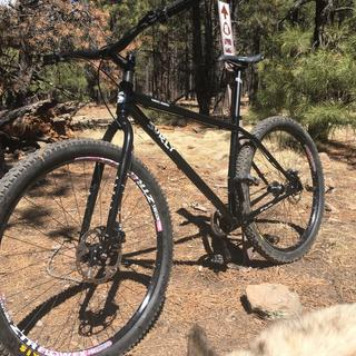 My Surly Karate Monkey Full Rigid Single Speed tricked out with my Shimano SLX-BR-M7000 Disc Brakes.