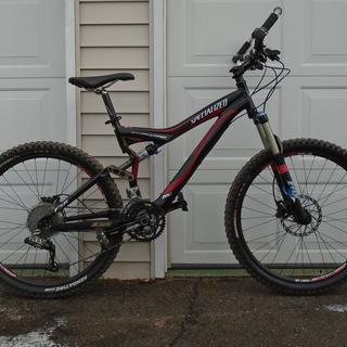 2007 Stumpjumper with Hayes Prime Expert brakes. The bike is unmodified other that the brakes.