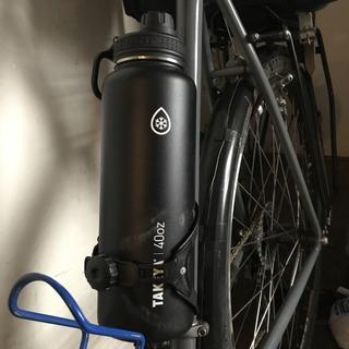 Mounted on touring bike
