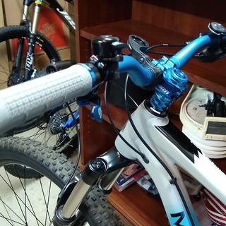 Chromag Clutch Grips Blue and Grey
