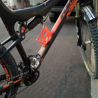 KTM Scarp with 28 Tooth Absolute Black Chain Ring