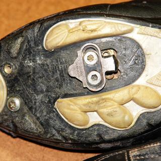 Soft plastic soles.