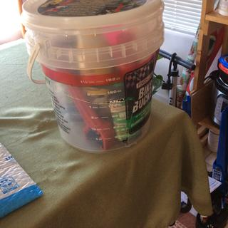 The bucket is inexpensive and broke b-4 I had a chance to use it