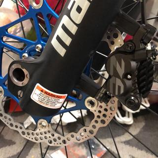 Hope 203 rotor paired with Shimano ZEE caliper.