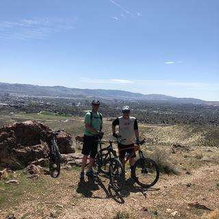 Single track with friends