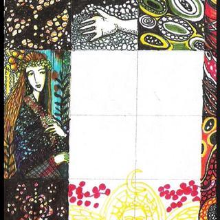 Detail of ink on envelope