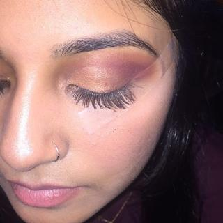 Make up I did on a friend— her lashes had the lights camera lashes mascara on them too