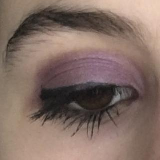 I used Amethyst - great for making brown eyes pop. So glad I purchased this cute set, it's my go-to.