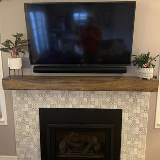 Fireplace media installation.