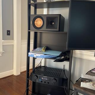 Sorry for the cords… just temporary placement before new furniture arrives, during break-in period.