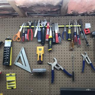 Indoor tool rack - organized and efficient!  the right tool is always ready!
