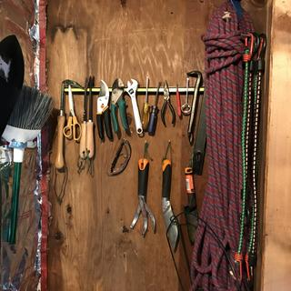 Outdoor tool shed - no clutter saves time.  I actually do the work!
