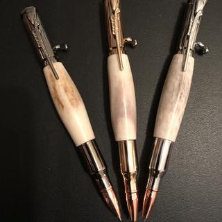 HandMade30 Caliber Bolt Action Gun Metal Bullet   Click Pen Over 500 sold !