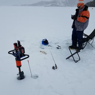 All the new technology makes fishing ice even  more  enjoyable