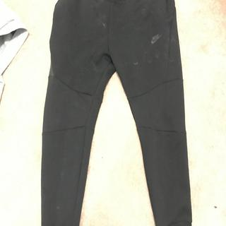 staining on front outside of all black pants