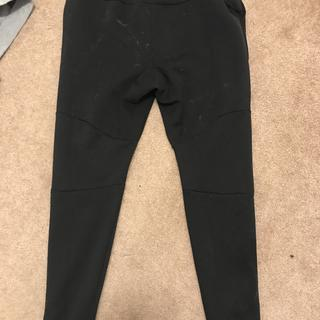 staining on back outside of all black pants