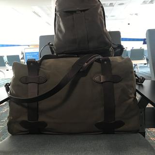 First trip with rugged medium duffle and journey man backpack. Loved the feel / look and all.